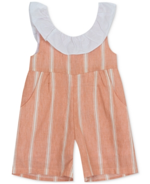 Rare Editions BABY GIRLS STRIPED ROMPER