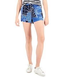 Bandana-Print Shorts