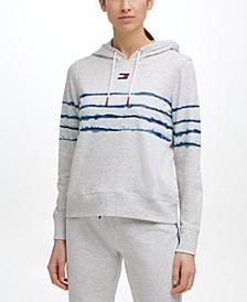 Printed Stripe Hoodie