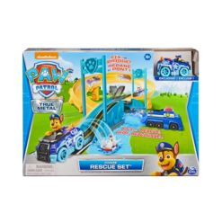 Paw Patrol True Metal Chase Rescue Track Set with Exclusive Chase Die-Cast Vehicle1:55 Scale