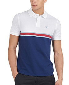 Men's Classic-Fit Colorblocked Striped Polo