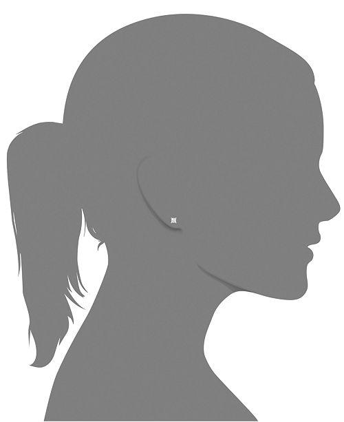 Macy S Princess Cut Diamond Stud Earrings In 14k White Gold Yellow 1 2 Ct T W Jewelry Watches