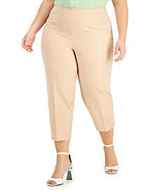 Plus Size High-Waist Cropped Pants, Created for Macy's
