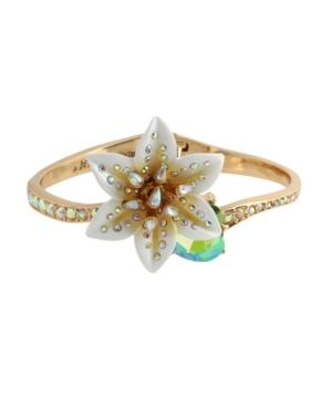Lily Flower Bangle Bracelet