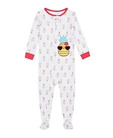 Baby Girls Pineapple Footie Pajamas