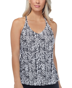 Eye Of The Tiger Printed Underwire Tankini Top