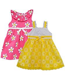 Baby Girls 2-Pack Flower Sundresses