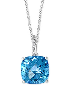 Effy Blue Topaz (8-1/4 ct. tw.) and Diamond Accent Pendant in 14K White Gold (Also in Amethyst and Citrine)