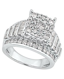 Diamond Cluster Ring (2 ct. t.w.) in 14k White Gold