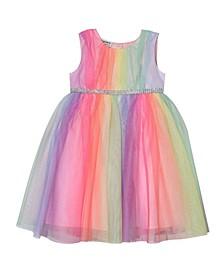 Toddler Girls Rainbow Tulle Dress