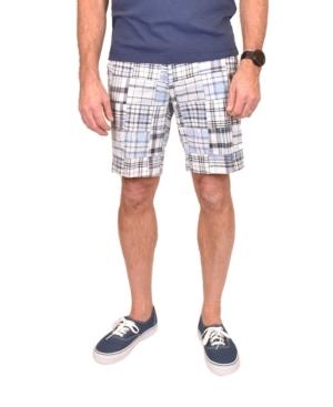 Vintage Shorts MEN'S ACID WASHED PATCH MADRAS SHORTS