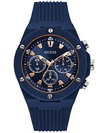 Men's Blue Silicone Strap Watch 46mm