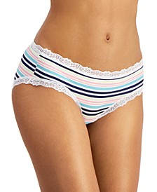 Women's Lace Trim Hipster Underwear, Created for Macy's