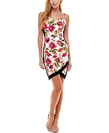 Juniors' Floral-Print Bodycon Dress