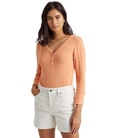 Pointelle Henley Top
