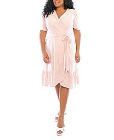 Plus Size Eyelet Wrap Dress
