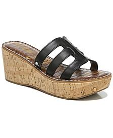 Women's Ronie Logo Wedge Sandals