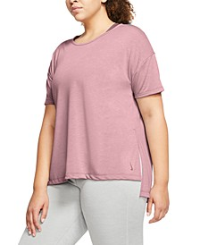Plus Size Short-Sleeve Yoga Top