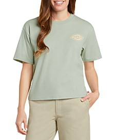 Juniors' Cotton Tomboy Logo-Graphic T-Shirt