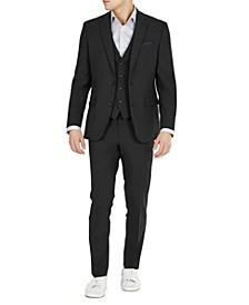 Men's Slim-Fit Solid Vested Wool Suit Separates, Created for Macy's