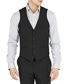 Men's Slim-Fit Solid Wool Suit Vest, Created for Macy's