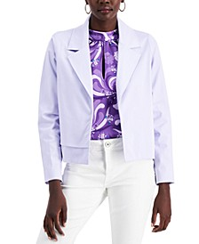 Notched Collar Open-Front Jacket, Created for Macy's