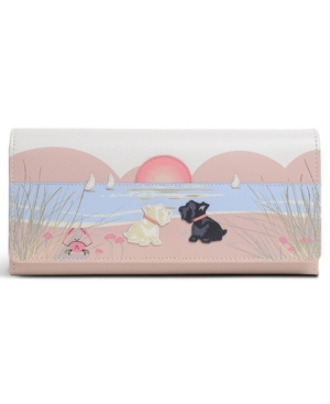 Radley London Burgh Island Large Leather Wallet In Pink