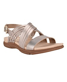 Martha Stewart x Women's Marlis Strappy Flat Sandals