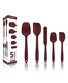 Non-Stick Silicone Spatula 5 Pieces Dishwasher Safe Premium Utensils Set