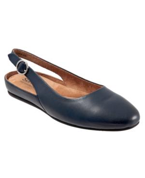 Softwalk Women's Sandy Flat Women's Shoes In Navy