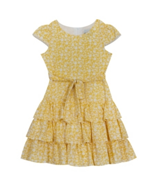 Rare Editions TODDLER GIRLS FLORAL PRINTED COTTON DRESS