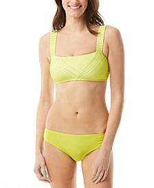 Square-Neck Bikini Top & Bottoms