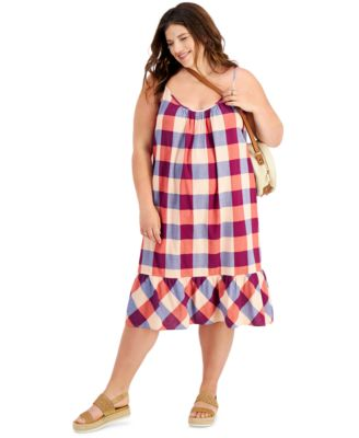 Plus Size Plaid Dress, Created for Macy's