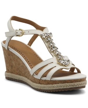 Adrienne Vittadini WOMEN'S CANISE WEDGE SANDALS WOMEN'S SHOES