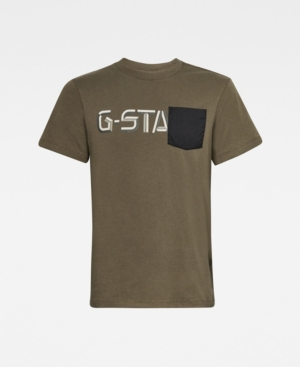 G-Star Raw T-shirts MEN'S RIPSTOP POCKET GRAPHIC T-SHIRT