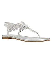 Women's Kayte Embellished T-Strap Flat Sandals