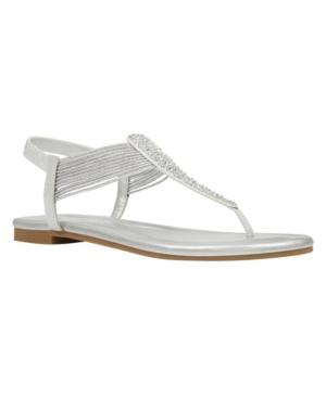 Women's Kayte Embellished T-Strap Flat Sandals Women's Shoes