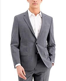 Men's Gray Slim-Fit Wool Suit Separate Jacket