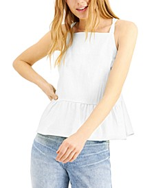 INC EARTH Tie-Back Peplum Camisole, Created for Macy's