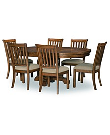 Oxford 7 Pc. Dining Set (Round Dining Table & 6 Side Chairs)