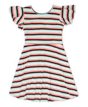 Speechless Dresses LITTLE GIRLS STRIPED DRESS