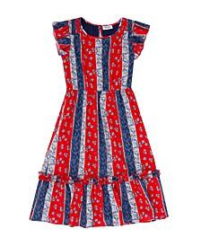 Big Girls Stripe Floral Dress