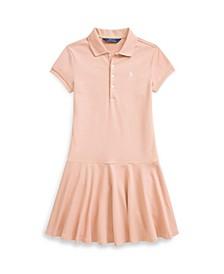 Big Girls Stretch Pique Polo Dress