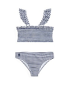Toddler Girls Gingham Swimsuit, 2 Pieces