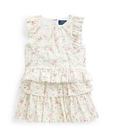 Toddler Girls Floral Top Skirt Set