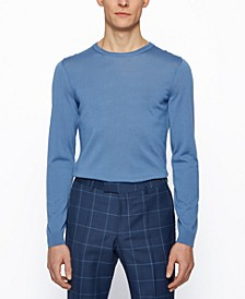 BOSS Men's Virgin-Wool Slim-Fit Sweater