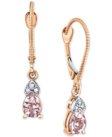 Morganite (3/4 ct. t.w.) & Diamond Accent Drop Earrings in 14k Rose Gold