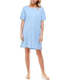 Short Sleeve Sleep Shirt Nightgown