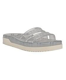 Women's Tobi Lucite Pool Slide Sandals