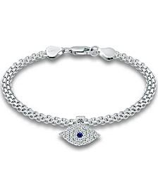 Cubic Zirconia Evil Eye Charm Bismark Chain Bracelet, Created for Macy's